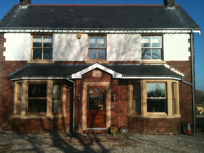 Traditional box sash windows joinery general building for Burgess builders